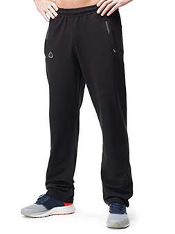SCR Men's Workout Activewear Pants Athletic Sweatpants Black