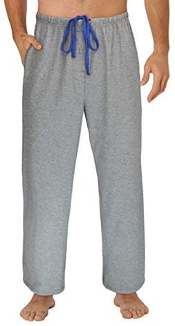 EVERDREAM Sleepwear Mens Jersey Knit Pajama Pants, Long Pj B