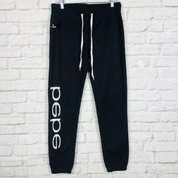 Bebe Sleepwear Womens Sweatpants Joggers Medium Black Lounge