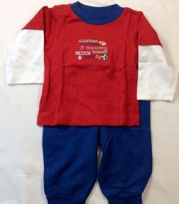 Gerber Sports Sweatshirt Sweatpants Baby Boy Size 6-9 Months