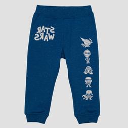 Toddler 5t Disney Star Wars Jogger Sweat Pants Blue Speckle