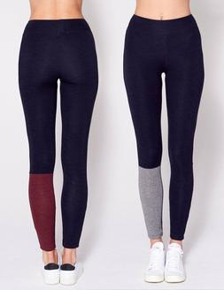 Sundry Surprise Color Block Skinny Yoga Sweatpants Navy 1