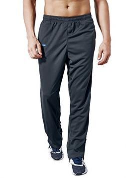 Zengvee Men's Sweatpant with Pockets Open Bottom Athletic Pa