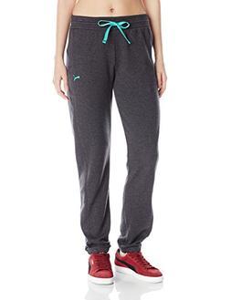 PUMA Women's Sweatpants, Dark Grey Heather, Small