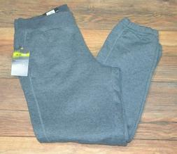 Tek Gear Sweatpants Gray Banded Bottom Workout Athletic Swea