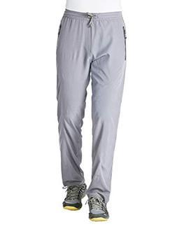 Rdruko Men's Sweatpants with Zipper Pockets Open Bottom Athl
