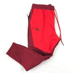 Nike Tech Fleece Jogger Pants Sweatpants Red Black 805162-67
