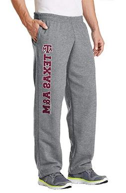 Elite Fan Shop Texas A&M Aggies Fleece Pants Captain Gray -