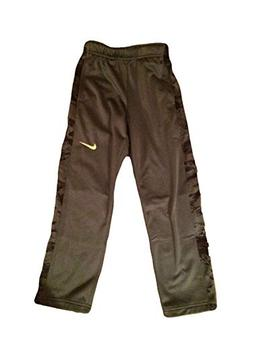 NIKE Boys Therma Dri Fit Track Pants Sweat Pants Green With