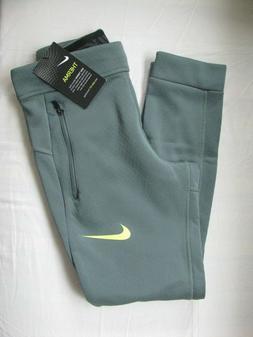 Nike Therma Dri-Fit Training Sweat Pants Greenish Gray Boys