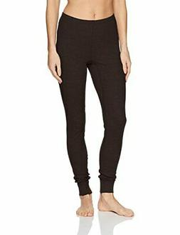 Fruit of the Loom Women's Thermal Waffle Bottom, Black, Medi