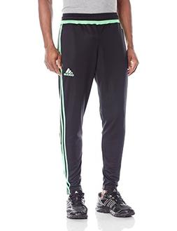 adidas Men's Tiro 15 Training Pants, Black/Flash Green/Black