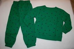 Toddler Boys Outfit FOOTBALL SWEATSHIRT & SWEATPANTS Green B
