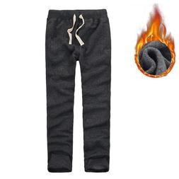 Trousers Men Winter Full Length <font><b>Sweatpants</b></fon
