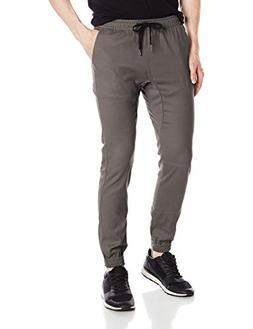twill jogger pants soft stretch