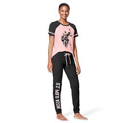 U.S. Polo Assn. Womens 2 Piece Lounge Shirt Elastic Waist Pa