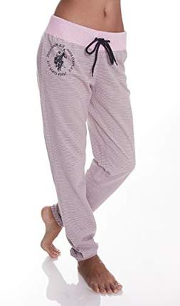 U.S. Polo Assn. Womens Logo French Terry Jogger Lounge Sleep