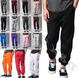 unisex men women pockets fleece sweatpants workout