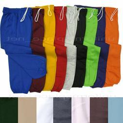 Unisex Mens Womens Sweatpants Fleece Workout Gym Pants Elast