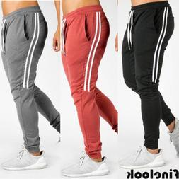 US Men Long Casual Sport Pants Gym Slim Fit Trousers Running