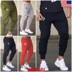 US Men Slim Fit Jogger Sports Gym Bodybuilding Running Track