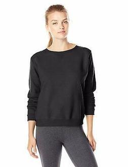 Hanes Women's V-Notch Pullover Fleece Sweatshirt, Ebony, XX-