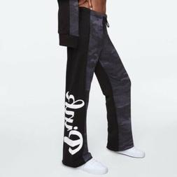 Victoria's Secret Pink L Sweatpants Black Grey Camo Boyfrien