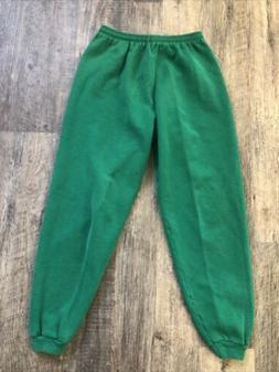 Vintage 90s Hanes Her Way Green Grunge Gym Sweatpants USA 50