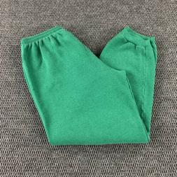 Vintage 90s Hanes Her Way Faded Green Sweatpants XL Made In