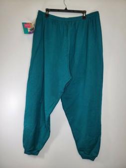 Vintage 90s Hanes Her Way Sweatpants Dark Green plus Size 3X