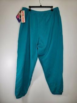 Vintage 90s Hanes Her Way Sweatpants Light Green plus Size 3
