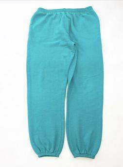 Vintage Hanes Joggers Sweatpants Adult Large Green Made In U