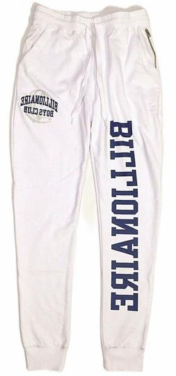 BILLIONAIRE BOYS CLUB White Blue Logo Print Zip Jogger Sweat