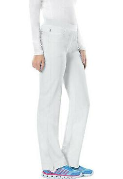 White Cherokee Scrubs Infinity Low Rise Slim Pull On Pants 1