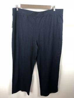 Sag Harbor Woman's Blue Sweatpants Plus Size 3X NWT