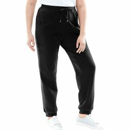 Woman Within Plus Size Petite Better Fleece Jogger Sweatpant