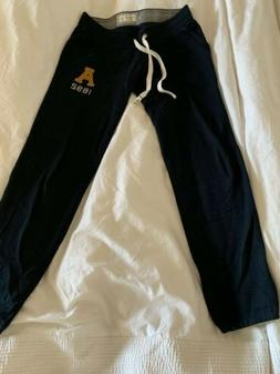 WOMEN ABERCROMBIE & FITCH A&F BLUE LOUNGE SKINNY BANDED SWEA