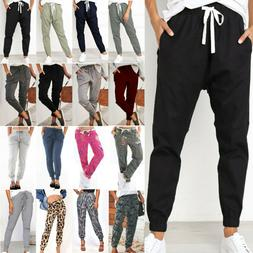 Women Casual Jogger Harem Trousers Tracksuit Bottom Slacks L