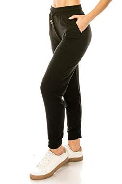 ALWAYS Women Drawstrings Jogger Pants - Skinny Solid Basic S