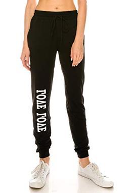7638a16762 ALWAYS Women Fleece Jogger Pants - Solid Basic Soft Warm Win