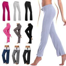 Women Ladies Yoga Pants Bootcut Leggings Joggers Trousers Wi