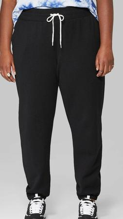 Women's 2X Plus Size High-Rise Vintage Jogger Sweatpants - W