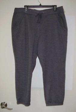 St Johns Bay Women's Athletic Jogger Sweat Pants Charcoal Si