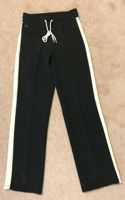 Liz Claiborne women's black/ivory white athletic sweatpants