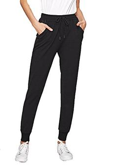 SweatyRocks Women's Casual Solid Sweatpants Yoga Workout Ath