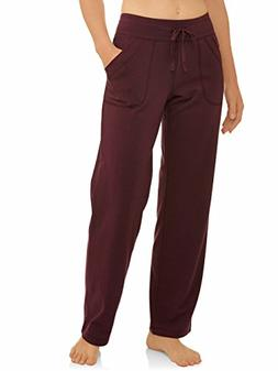 Athletic Works Women's Essential Athleisure Knit Pant Burgun