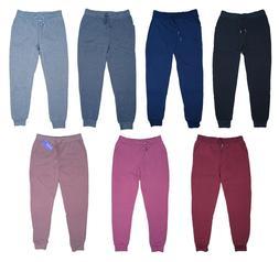 Women's Fleece Lounge Pants Cotton Sweatpants w/ Pockets Cuf