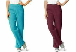 Hanes Women's Sweatpants Athleisure Loose Fit Aqua, Burgundy