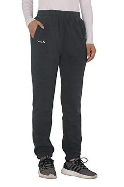 Clothin Women's Fleece Thermal Elastic Leg Opening Sweatpant