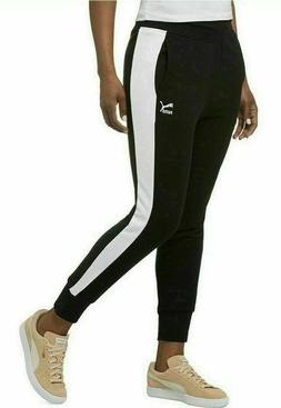 PUMA Women's French Terry Track Sweat Pants Jogger Contrast